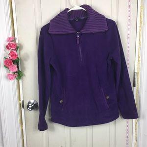 LandsEnd Sweater sweatshirt purple 6
